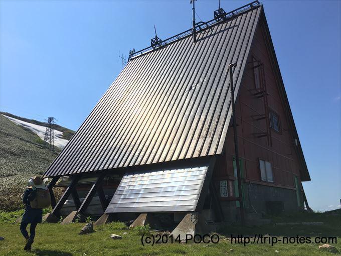 谷川岳馬蹄形縦走 清水峠の送電線監視所
