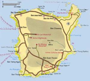 Карта острова Самуи