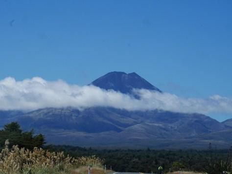 Udsigt til vulkanen Mount Ngauruhoe.