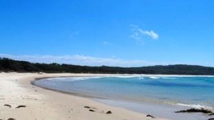 la superbe plage de Potato Point
