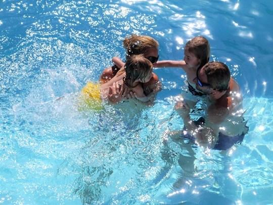 pool party en famille