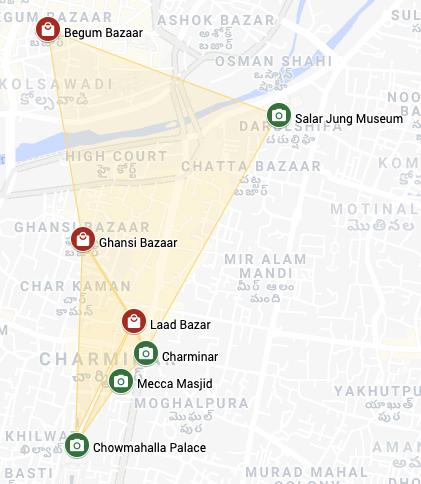 Map of charminar
