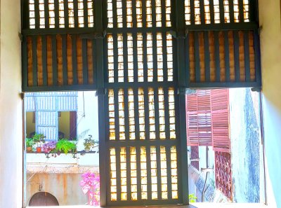 Oyster shell windows - Another Goan feature