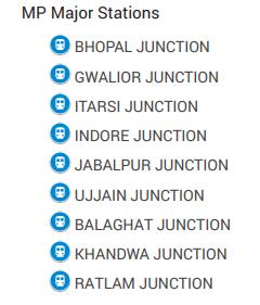 madhya pradesh railway junctions