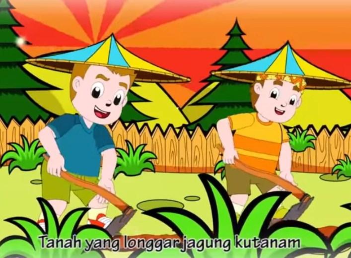 Coba jelaskan kembali isi lagu Menanam Jagung dengan bahasamu sendiri dalam bentuk tulisan, lalu ceritakan kepada orang tua dan gurumu!