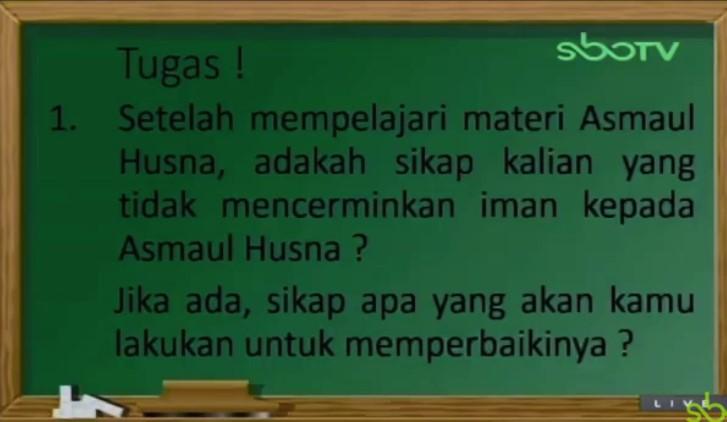 Setelah mempelajari materi Asmaul Husna, adakah sikap kalian yang tidak mencerminkan iman kepada Asmaul Husna? Jika ada, sikap apa yang akan kamu lakukan untuk memperbaikinya?