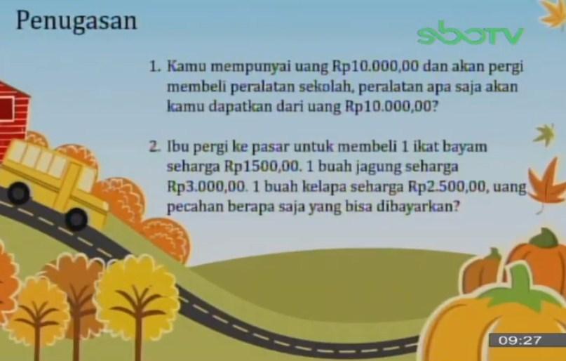 Soal dan Jawaban SBO TV 23 September SD Kelas 2