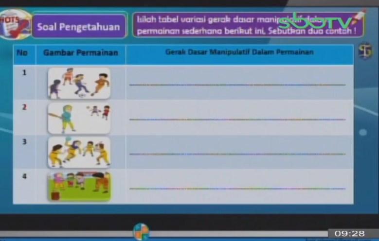 Soal dan Jawaban SBO TV 14 September SD Kelas 2