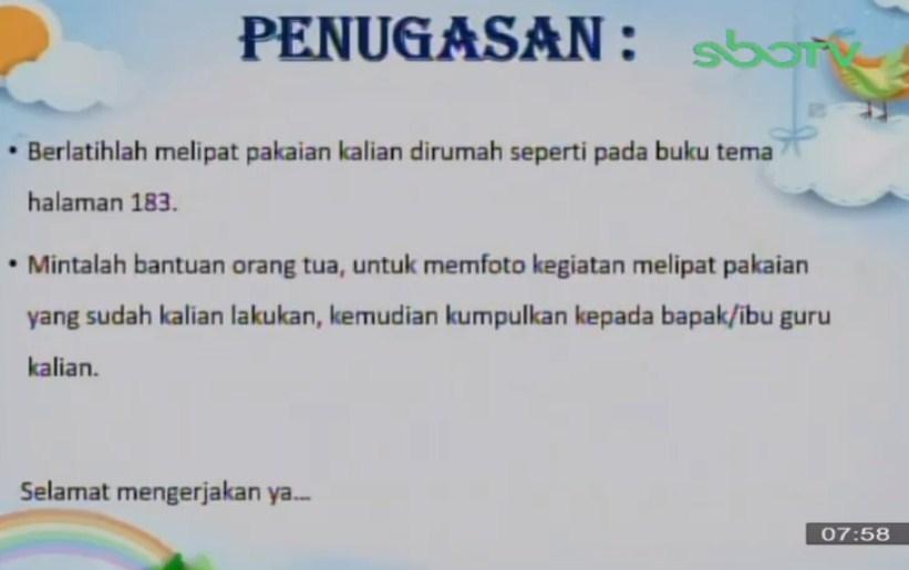 Soal dan Jawaban SBO TV 29 September SD Kelas 3