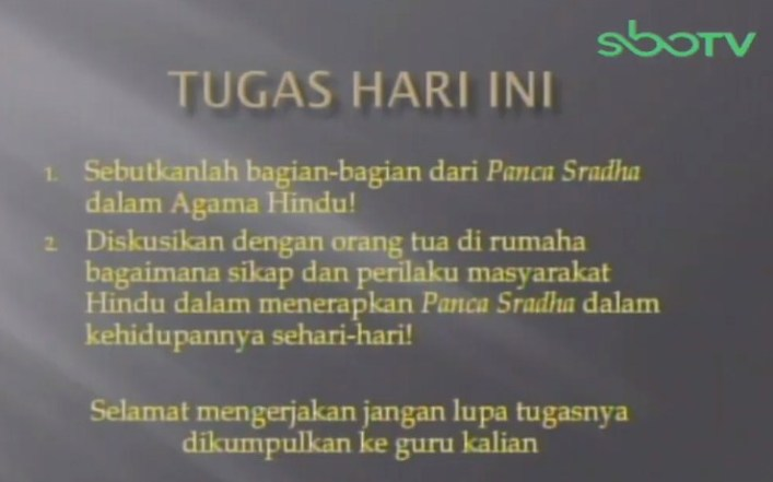 Soal dan Jawaban SBO TV 11 September SD Kelas 6