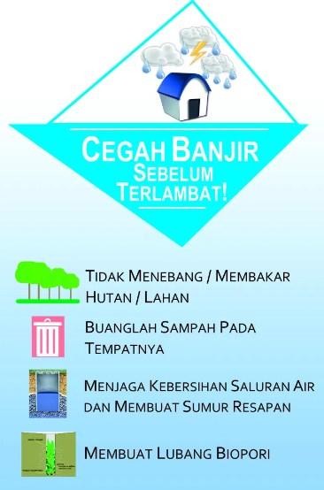 Contoh poster tentang banjir