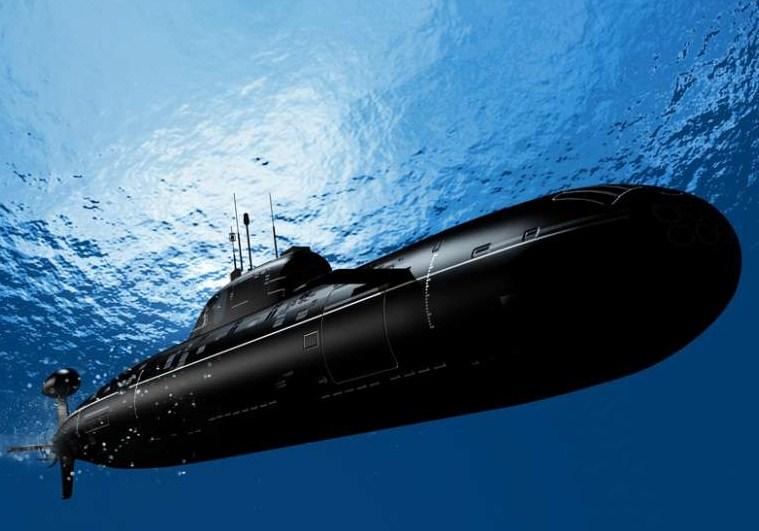 Sebuah kapal selam menyelam sejauh 85 m dari permukaan laut, kemudian ke bawah lagi sejauh 38 m