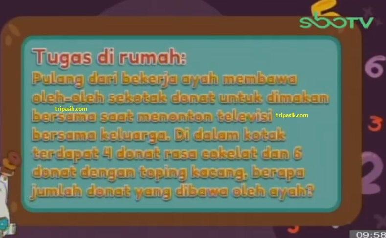 Soal dan Jawaban SBO TV 15 Oktober SD Kelas 1