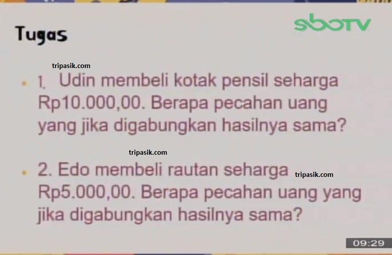 Soal dan Jawaban SBO TV 14 Oktober SD Kelas 2