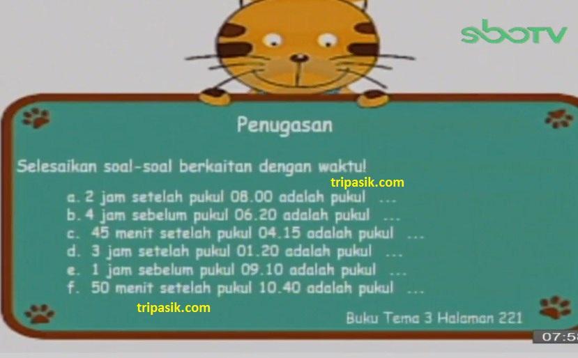 Soal dan Jawaban SBO TV 20 Oktober SD Kelas 3