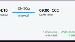 Горящий чартер NORDWIND на Кубу: Москва - Кайо-Коко 17 января - 7200 рублей OW!