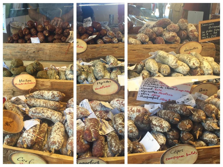 Salami for sale at the Agrogast festival