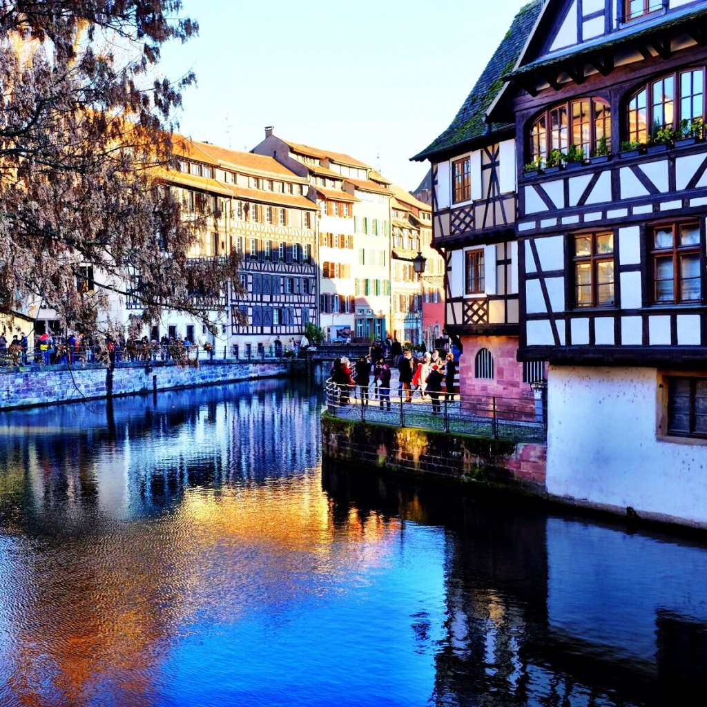 Petite France in Strasbourg during Christmas markets