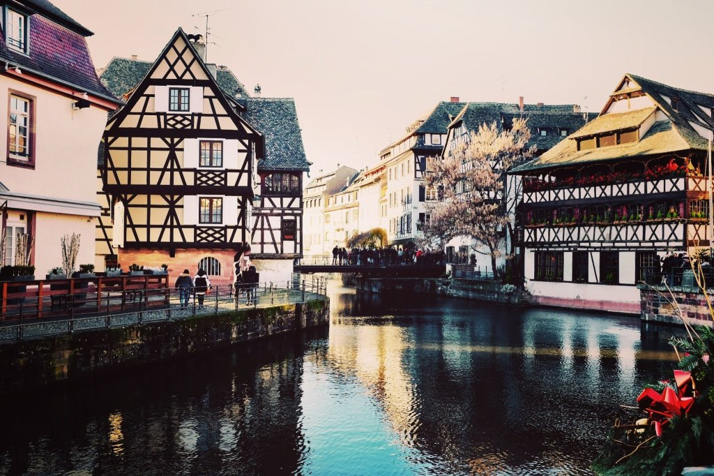 Picturesque views over the river Ill, Strasbourg