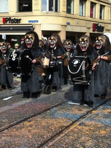 Things to do in Basel - Basel Fasnacht clique, a group of pipers and drummers