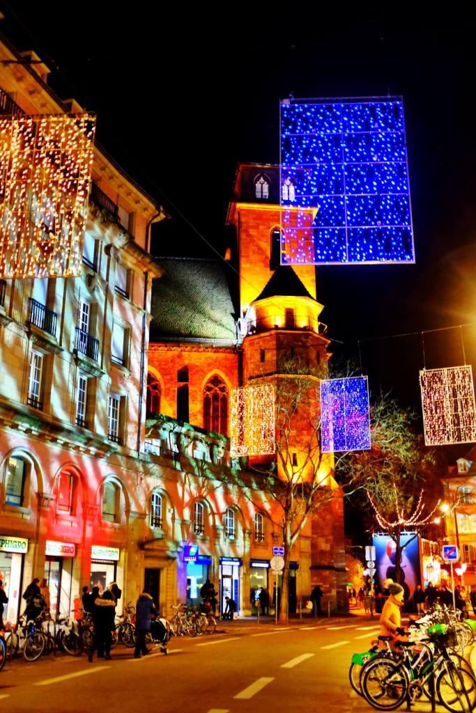 Light show Strasbourg Christmas Market