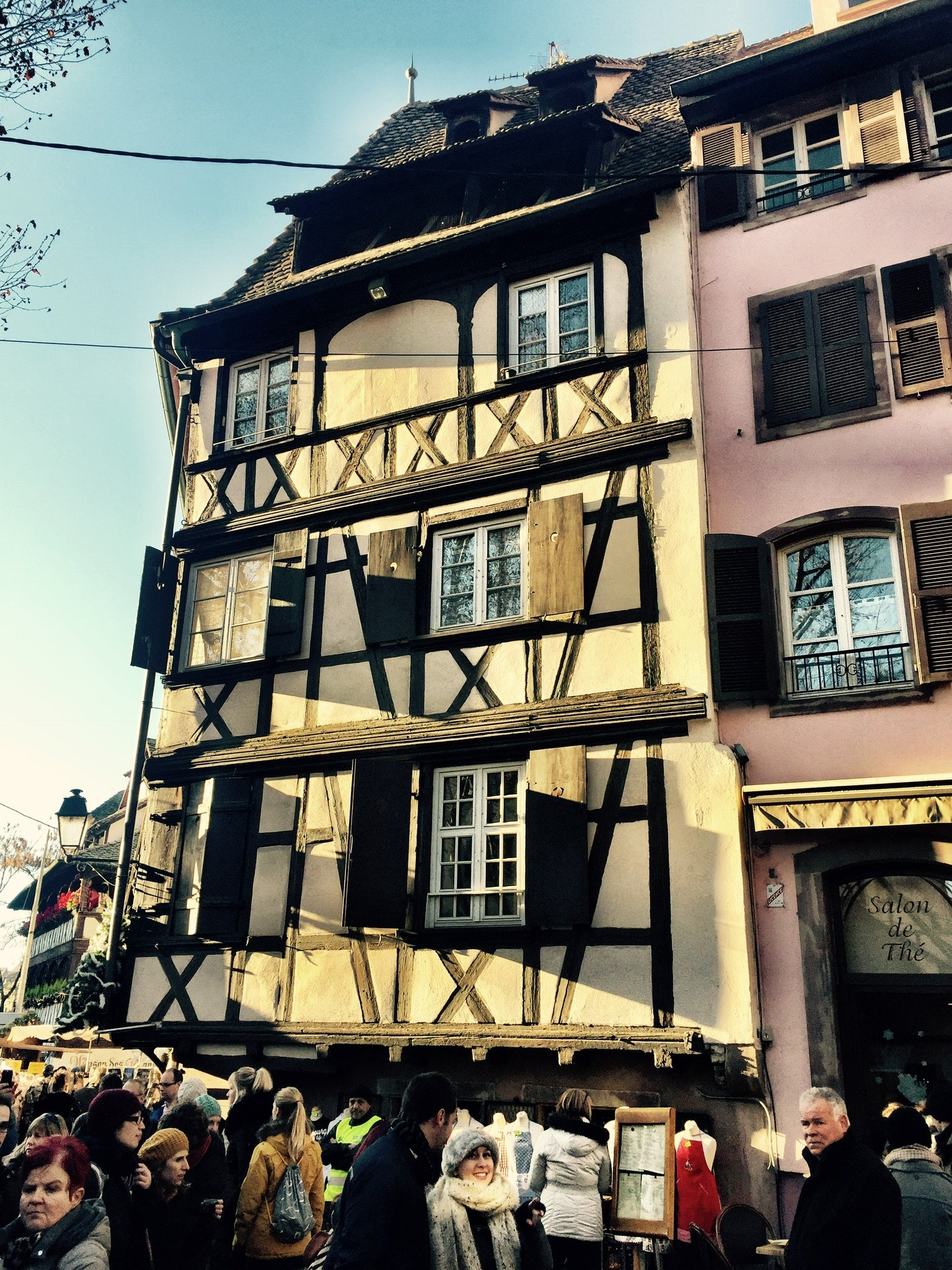 Medieval house.Seen while we were at the Christmas Markets in Strasbourg.