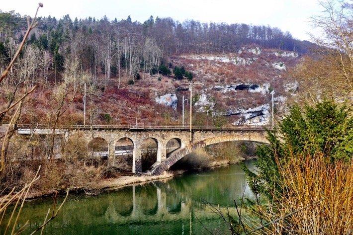 Beautiful reflection of a bridge near Duggingen