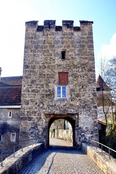 The tower in front of the castle Zwingen