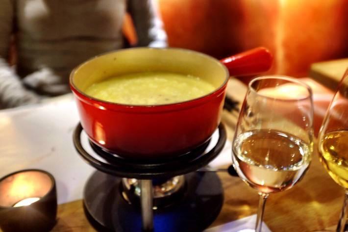Delicious truffle fondue we had in Zermatt