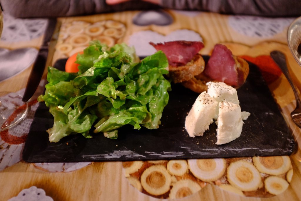 Goat-cheese plate we ate in Annecy
