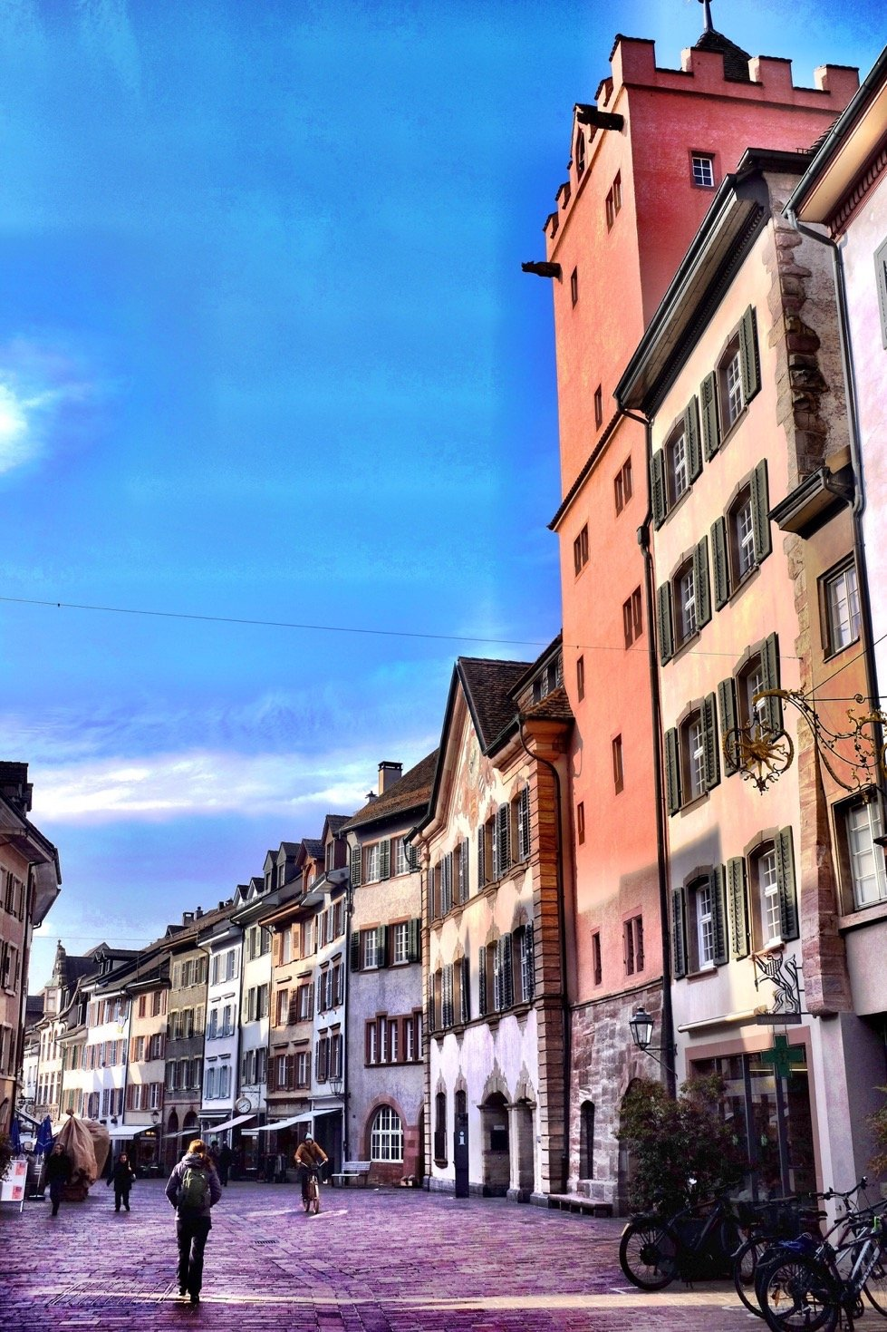 View of the old town in Rheinfelden