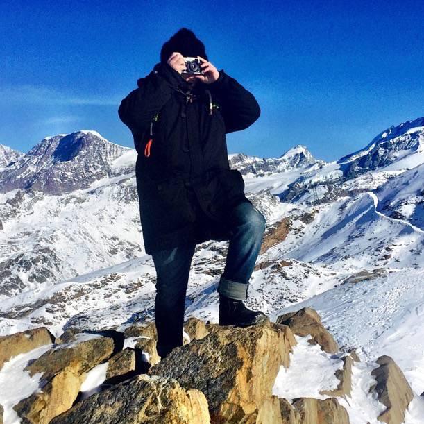 Tom taking some pictures on top of Gornergrat in Zermatt at 3100 m.o.s.l.