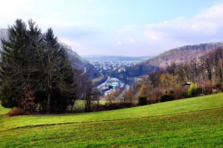 View of Aesch from a hill
