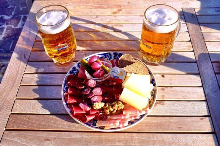 """The """"Walliser Platte"""" is a mixed plate with a diversity of meats and cheeses from the Kanton Wallis."""