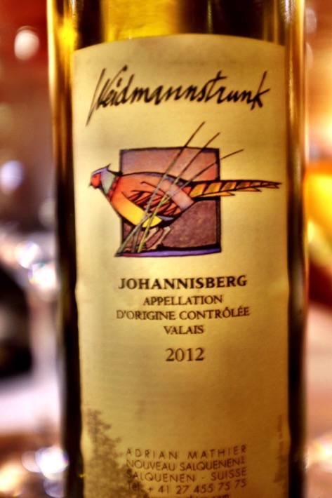 A wine called Weidmannstrunk we drank in Zermatt