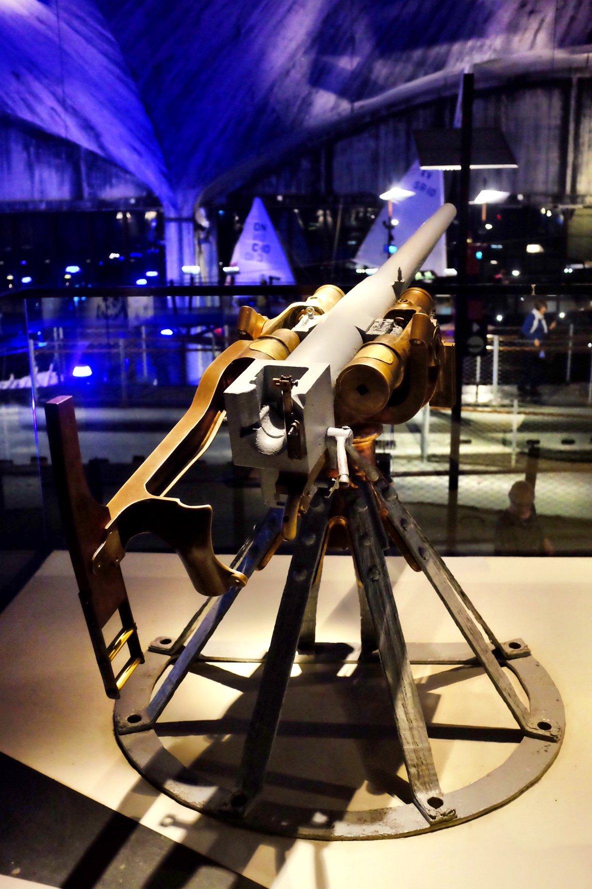 Anti aircraft gun at the Seaplane Museum in Tallinn