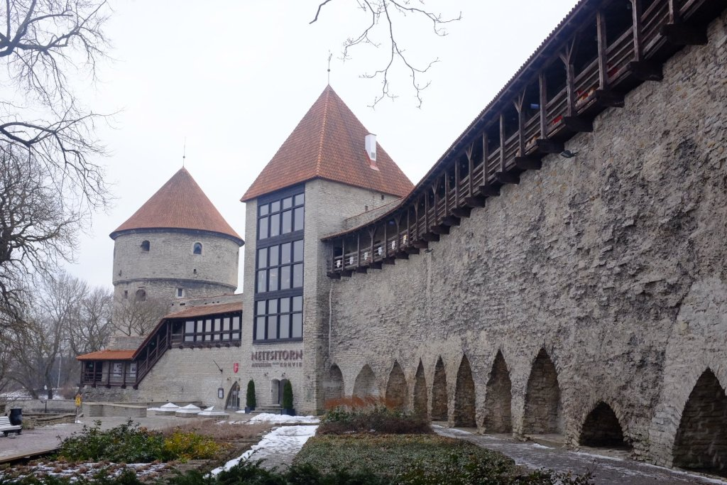 Tallinn city break Wall of the Danish Kings Garden and the Maiden Tower