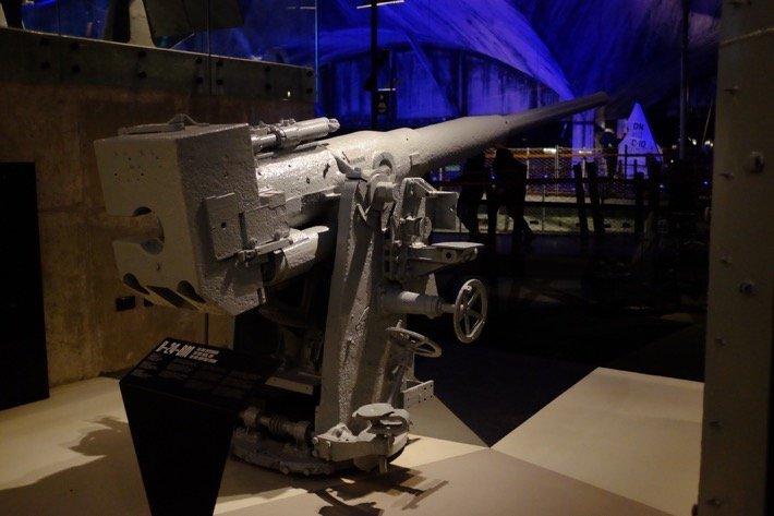 Heavy anti aircraft gun at the Seaplane Museum in Tallinn