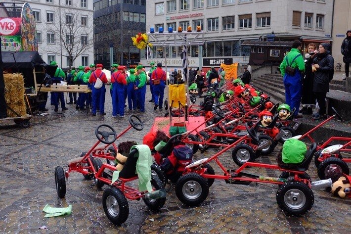 Mario Cart Break at the Basler Fasnacht