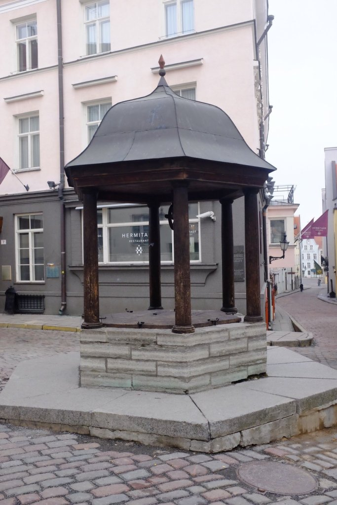 Old Well in the streets of Tallinn