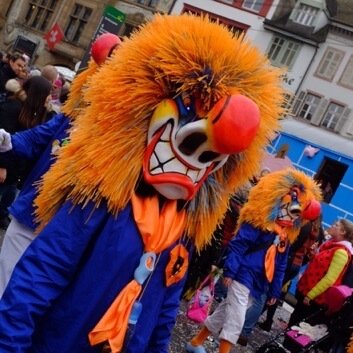Orange Waggis at the Basel Fasnacht