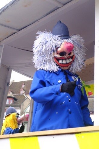 Police Waggis at the Basler Fasnacht
