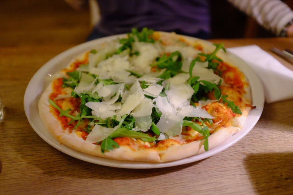 Rocket pizza we ate at Vapiano in Tallinn