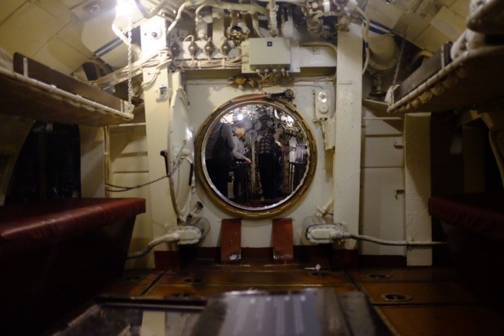 Submarine Interieur at the Seaplane Harbour Museum in Tallinn