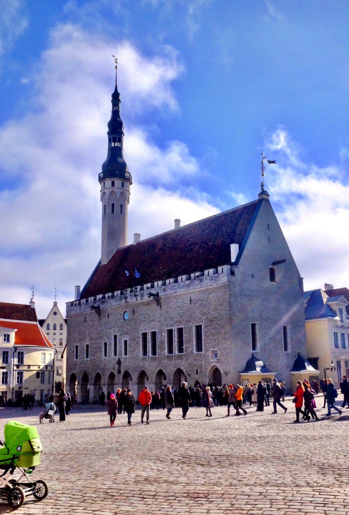 Tallinn Town Hall by day