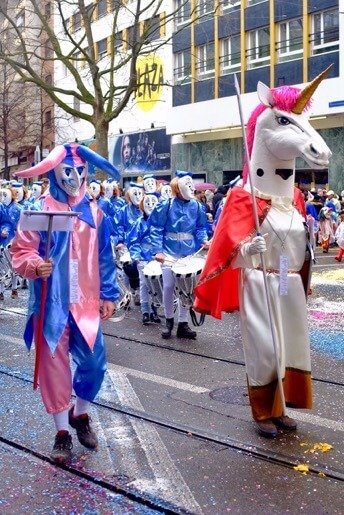 The Joker and the Unicorn at the Basler Fasnacht