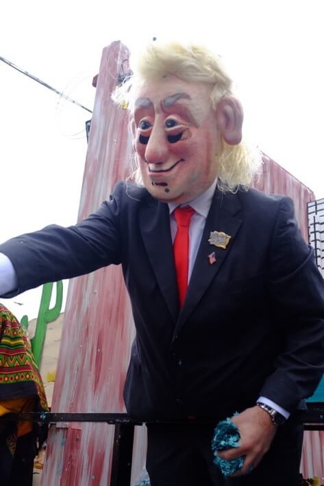 Trump mask at the Basler Fasnacht
