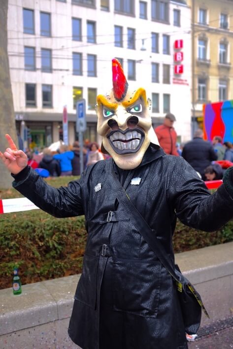 Waggis Punk at the Basler Fasnacht