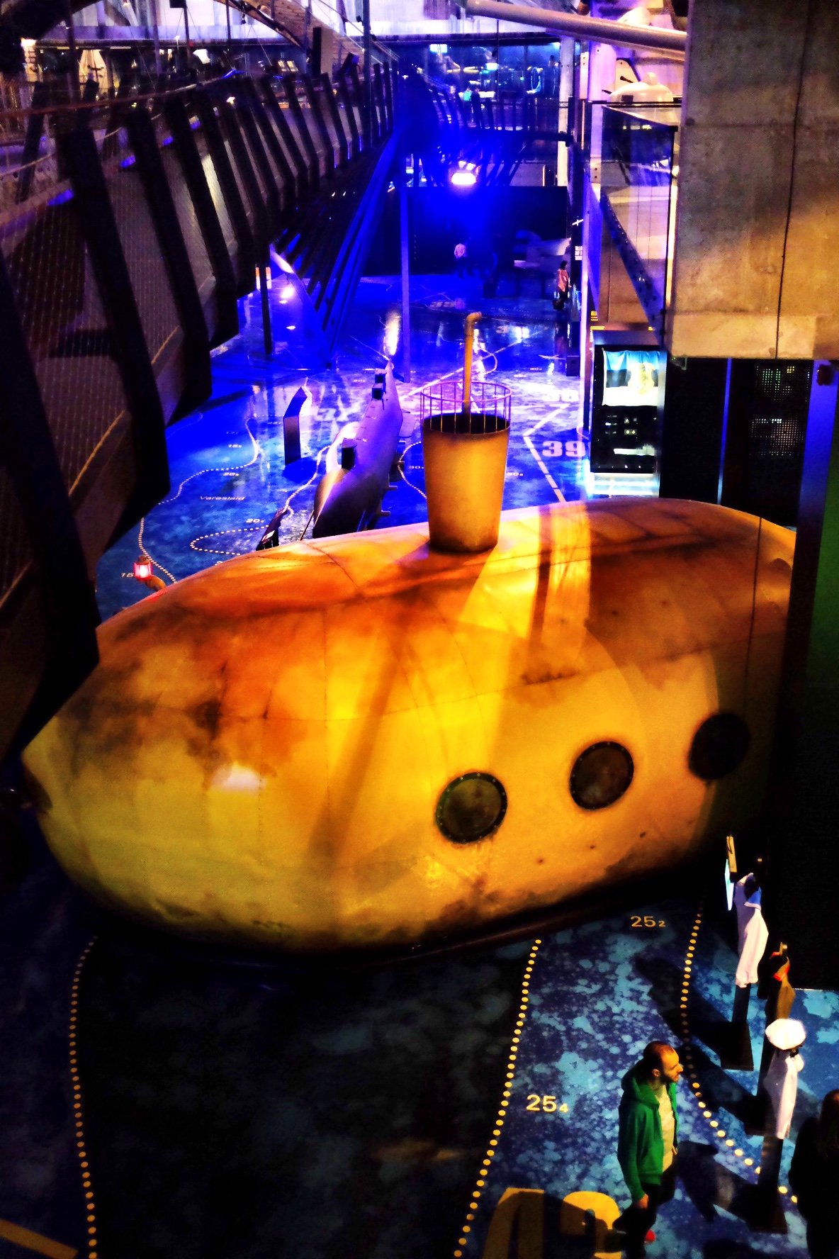 Yellow Submarine at the Seaplane Harbour Museum in Tallinn