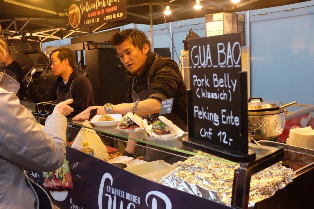 Gua Bao Stall at the Street Food Festival Basel
